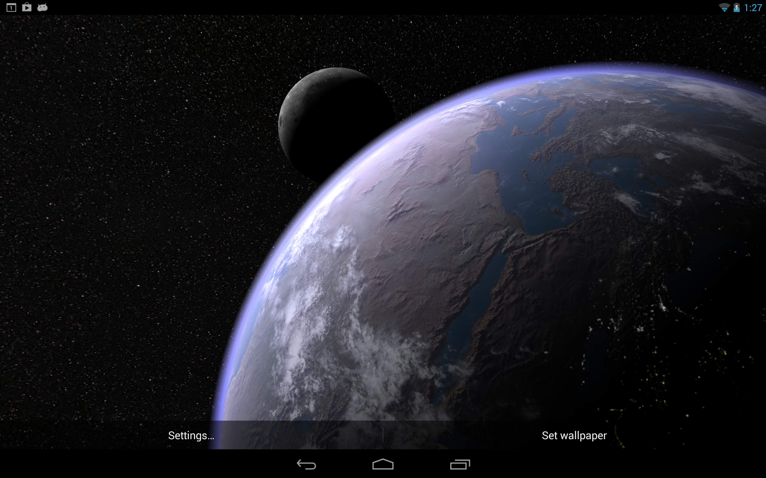 Earth & Moon in HD Gyro 3D PRO: Amazon.de: Apps für Android
