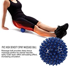 Dailyinshop PVC Spiky Massage Ball Fußschmerzen & Plantar Fasciitis Reliever Igel Ball, blau, 6cm