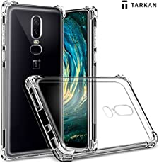 Tarkan OnePlus 6 Mobile Case - Shock Proof Protective Soft Transparent Back Cover [Bumper Corners with Air Cushion Technology] Limited Period Offer for ONE Plus Users