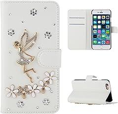LG G6 Case, Meroollc [ Portable Wallet ] [ Slim Fit ] Heavy Duty Protective Women Flip Cover Wallet Case for LG G6 - Angel Flower