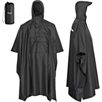AWHA rain poncho - the extra-long rain protection with zipper and Chest pocket