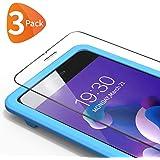 Bewahly pansarglas skyddsfolie för iPhone 8 Plus/7 Plus [3 stycken], pansarglasfolie 9H hård skärmskyddsfolie med installatio