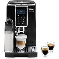 De'Longhi Dinamica ECAM 350.55.B Kaffeevollautomat mit Milchsystem, Cappuccino, Espresso und Kaffee auf Knopfdruck…