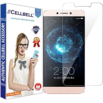 CELLBELL® Letv Le 2S (transparent) 9H Premium Tempered glass screen protector with FREE Installation Kit