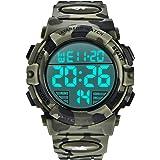 Relojes, Reloj Digital para Hombres, 50M Cronógrafo Impermeable para Exteriores Relojes Deportivos para Hombres con retroilum