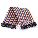 AZDelivery Jumper Wire Cable 40 PCS. 20 cm Vardera F2F Hona till Hona kompatibel med Arduino och Raspberry Pi Breadboard inkl