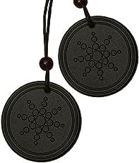 Aarogyam Energy Jewellery Black Pendant for Men and Women (Pack of 2)