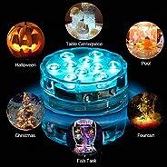 10 Lights LED Battery Powered Remote Control Timing Light Plane Diving Light Aquarium Light Underwater Fish Tank Swimming Po