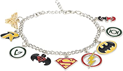 Justice League Super Heroes Multi Charm Bracelet