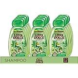 Garnier Multi Pack Shampoo Ultra Dolce 5 Piante, Shampoo per Capelli Normali, 300 ml, Confezione da 12
