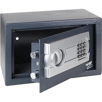 HMF 4612112 Coffre-fort, coffre-fort à poser avec serrure électronique, 31 x 20 x 20 cm, anthracite