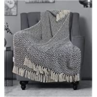 The Furnishers Fashion Throw Multi-Purpose Sofa/Bed | Couch Cover Blanket AC Blanket with Tassels For Room & Home Decor…