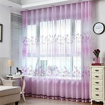 Cf® Tüll Vorhang Vogel Vorhang Fenster Abschirmung Balkon Fertig