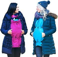 Jackenerweiterung | mach Deine Lieblingsjacke zur Umstandsjacke oder Tragejacke | für Jede Jacke & Konfektionsgröße | für Schwangerschaft & Baby-Tragezeit | Ganzjahres-Kombi
