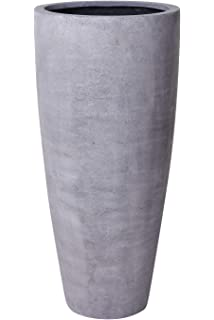 Blumentopf Blumenkübel Pflanzentopf Beton-Design Pflanzkübel Rund Betonoptik