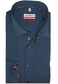Marvelis Modern Fit Hemd extra Langer Arm New Kent Kragen wei/ß