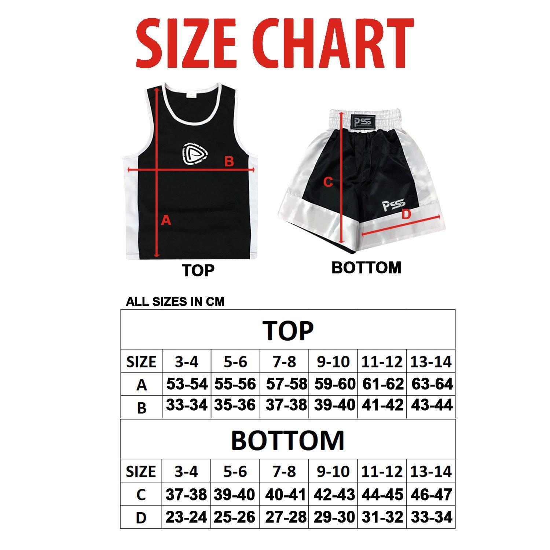 6d74b9db14 Completo da Boxe Pugilato Bambini Uniforme 2 Pezzi (Canotta & Pantaloncini)  Blu-Bianco 11-12 Anni. per Prime Sports