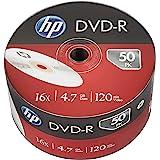 HP- Spool Hp DVD-R - 50 pack 4.7gb 16x, 50 piezas de 120 mins video