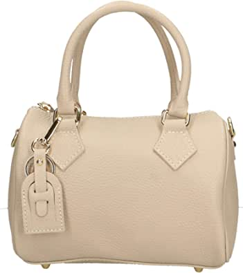 Chicca Borse Borsa a Mano Donna in Pelle Made in Italy 22x15x13 Cm