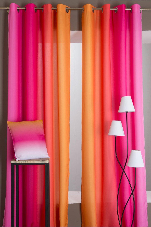 Rideau Orange. Free Back Soon Utopia Curtain X Farniente Yellow With ...