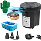 OBEST Electric Air Pump for Paddling Pool, Inflatables Mattress, Airbed, Pool Toy, UK Plug, Portable 130W High Power Inflator