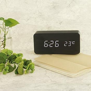 pilife wooden digital alarm clock novelty bedside desk alarm clock