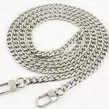 Catena a maglia in ferro con moschettoni, ricambio per borse a tracolla e borse a mano