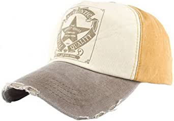 Ukerdo Vintage Cappellini da Baseball Stella Cowboy Cappelli Uomo Donna Tempo Libero Sole Protezione Regolabile Confortevole Cappello di papà