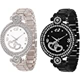 ZUPERIA Diamond Studded Combo Watches for Girls and Women
