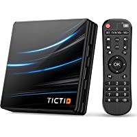 TICTID Android TV Box Android 10.0【4G+64G】 RK3318 Boitier Android TV D1 Pro Quad-Core 64bit Cortex-A53 / WiFi 2.4G / 5…
