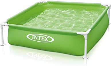 Intex Kinderpool Frame Pool Mini, Grün, 122 x 122 x 30 cm