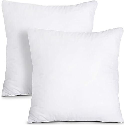Utopia Bedding Set di 2 Cuscini - 30 x 30 cm Imbottitura per Cuscini - Tessuto Misto Cotone Cuscini Divano - Cuscino Interno (Bianco)