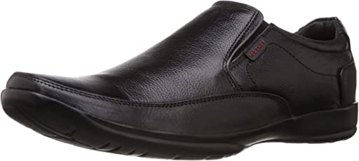 Redchief Men's Leather Formal Shoes, Black