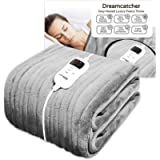 Dreamcatcher Luxurious Electric Heated Throw, Large 160 x 120cm Soft Fleece Throw Blanket, Large Heated Electric Blanket…
