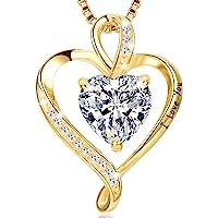LAVUMO Herzkette 925 Silber Rosegold Gold Damen Halskette - Herz änhänger Silber Kette Damen Schmuck Geschenk für Frau…
