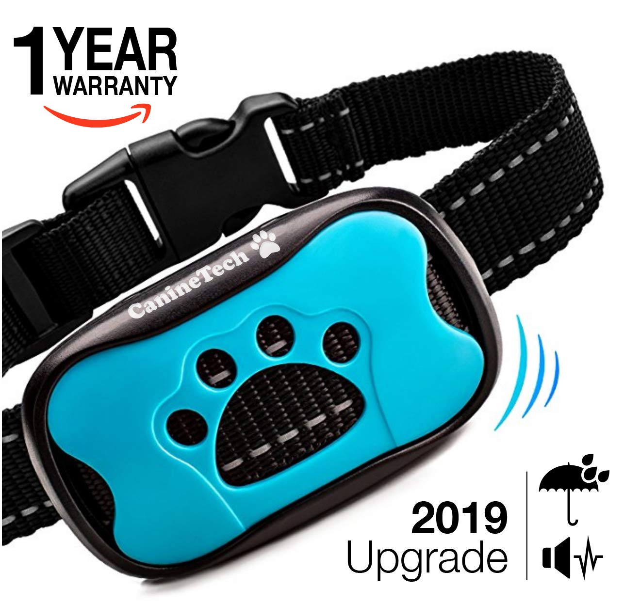 Advanced 4 in1 Anti Bark Dog Collar | Device to Stop Excessive Dog Barking WITHOUT ELECTRIC SHOCK! Anti-barking training with tone vibration for small medium sized breeds. HUMANE, SAFE and PAINLESS