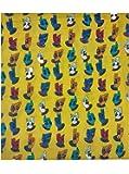 Cotton Kalamkari Handblock Saree Blouse/Kurti Fabric 100 cms - Hand Dancer Print - Yellow Colour