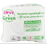 Love & Green Serviettes Hypoallergéniques Super 12 Serviettes