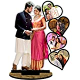 Unique Stuff Personalized Gift MDF Cutout Photo Frame Standee Customized with Your Photos (10 x 12 inch)