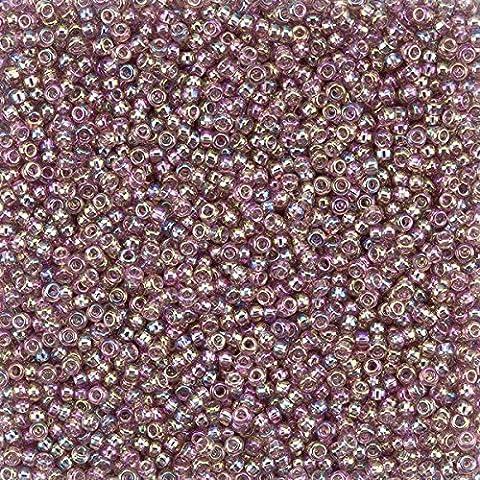 Miyuki Seed Beads Size 11/0 Trans. Dark Amethyst AB 24g