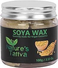 Nature's Tattva Soya Wax, Triple Filtered for Cosmetics, Vegan Wax, 100g