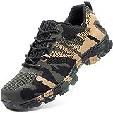 DoGeek Zapato Seguridad Calzado Seguridad Hombre con Punta de Acero, Antideslizante Transpirables, Unisex