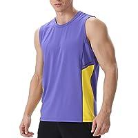 Men's Gym Tank Tops Athletic Sleeveless Vest Breathable Undershirt Antibacterial Deodorant Sports T Shirt