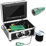 Sonew 7in 1000TVL Cámara subacuática, cámara de Pesca Profesional 50m Cable 6 LED Blancos para Pesca en Hielo, Lago y Barco