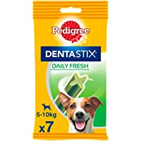 Pedigree Dentastix Fresh - Friandises pour petit chien, 7 bâtonnets à mâcher pour l'hygiène bucco-dentaire (1 sachet de…