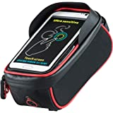 Bicycle Bags,Outgeek Cycle Accessories Phone saddle Bags Front Frame Bags Touch Screen Waterproof Mountain Cycling Pouch Comp