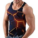 Rave on Friday Debardeur Homme 3D Imprimé Graphique Cool Gym Casual Tank Top Été T-Shirts sans Manches S-XXL