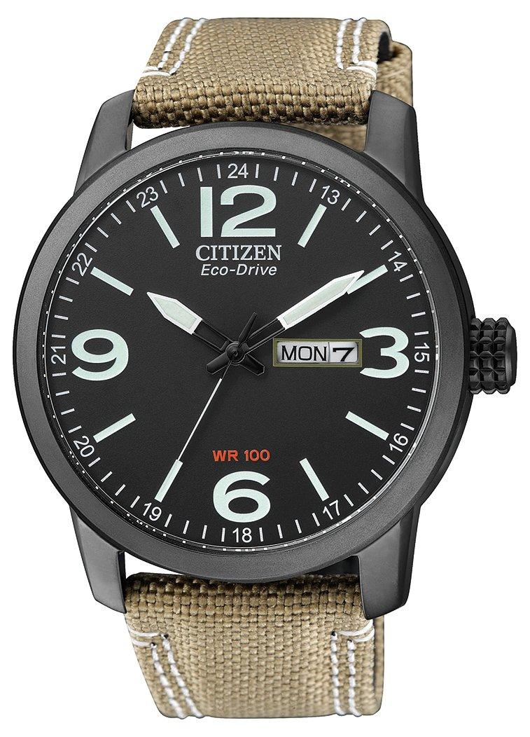 Citizen de hombre reloj de pulsera Elegance analógico de cuarzo, Eco Drive (Talla Única, Negro) 1