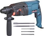 Aimex Reversible Rotary Hammer with 5 Piece Drill Bit, 26 mm, Blue