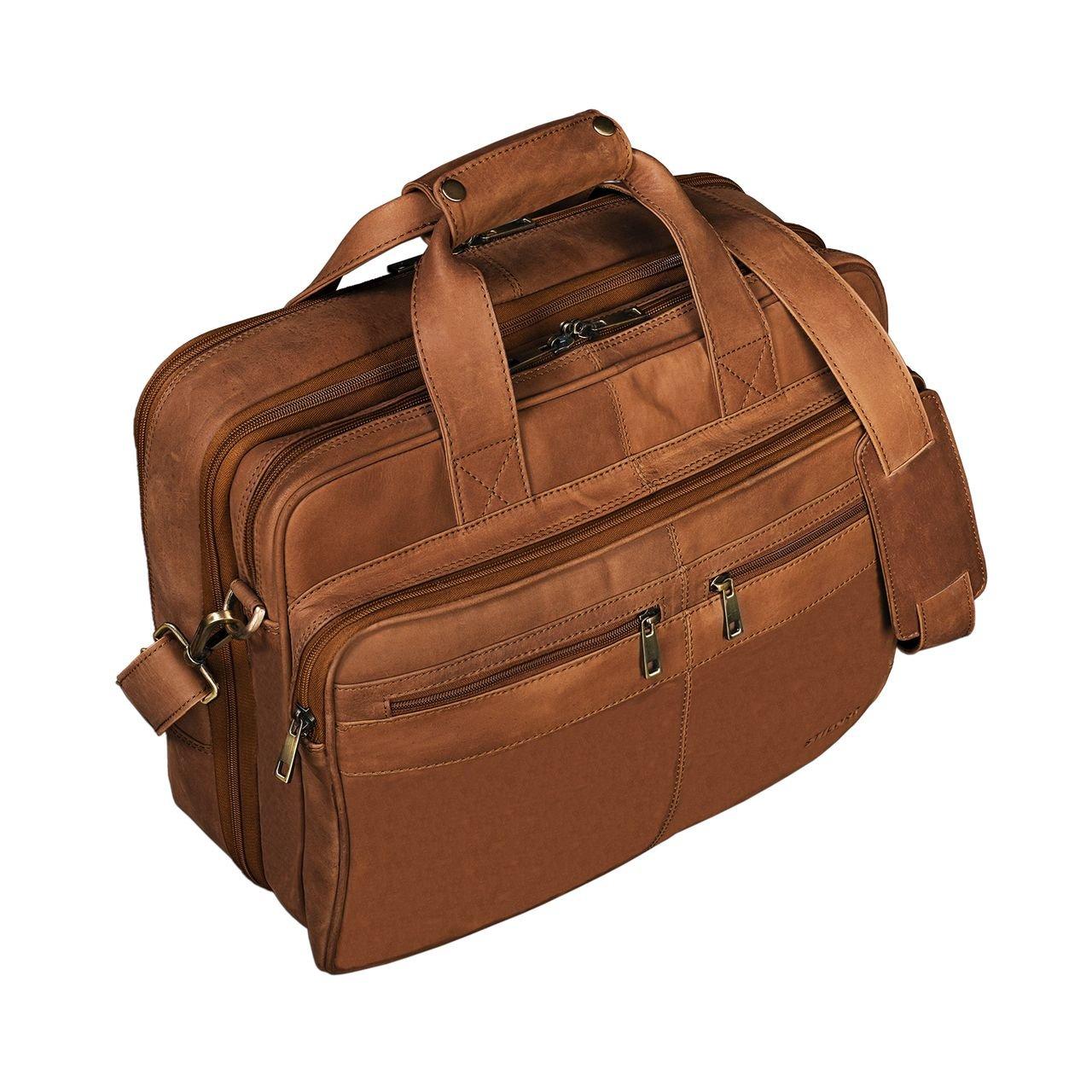 24f0ee7a16 STILORD 'Alexander' Borsa da lavoro in pelle uomo donna Grande borsa porta  documenti e PC Ventiquattrore da ufficio Cartella per la scuola borsa a  tracolla ...